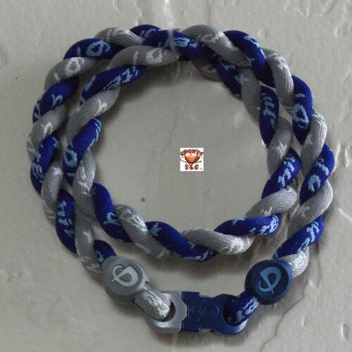 Phiten Tornado Necklace: New Navy with Gray CUSTOM