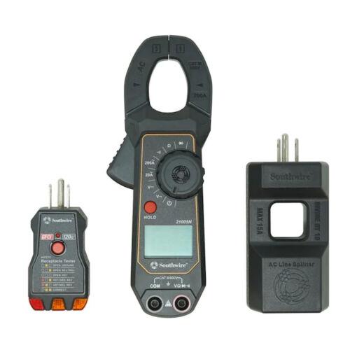 Southwire 3-Piece Digital 600-Volt Clamp Meter