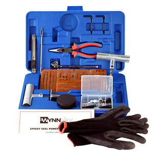 New Ideal 60 PCS Tire Repair Tool Kit,Plug Flat&Puncture Repair Truck Tool Box