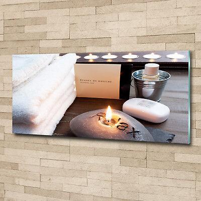 Glas-Bild Wandbilder Druck auf Glas 125x50 Deko Sonstige Spa Seife Kerze