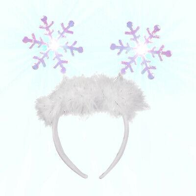Flashing Snowflake Head Boppers