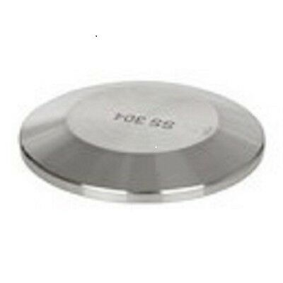 Sanitary 4 Solid End Cap 304 Stainless Dairy Brewing Tri Clover San026