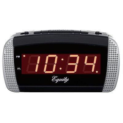 30240 Equity by La Crosse AC Powered Super Loud 0.9 Red LED Digital Alarm Clock