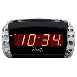 30240 Equity by La Crosse AC Powered Super Loud 0.9 Red LED Digital Alarm Clock