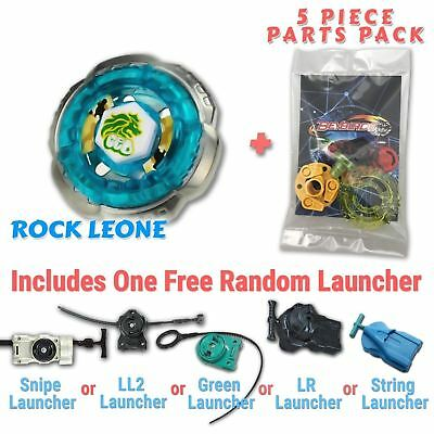 Rock Leone BB-30 Beyblade w/ Free Launcher & Tips / Parts / Card Gift Pack - Rock Toys