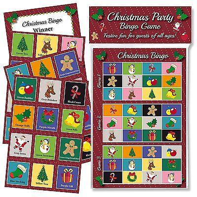 CHRISTMAS PARTY BINGO GAME: FUN & GAMES FOR FAMILY, OFFICE AND KIDS XMAS PARTIES - Games For Christmas Parties