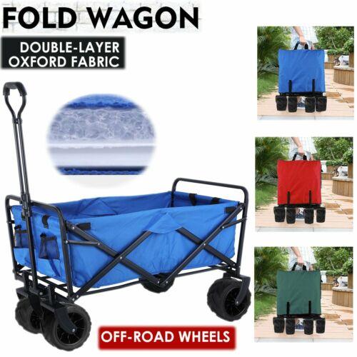Folding Wagon Cart Collapsible Sports Utility Beach Heavy Du