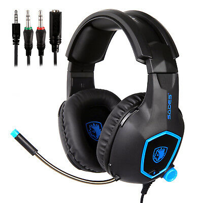 SADES SA818 Gaming Headset Headphones With Microphone For PS4 New xbox one PC