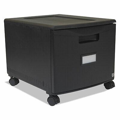 Storex Single-drawer Mobile Filing Cabinet 14-34w X 18-14d X 12-34h Black