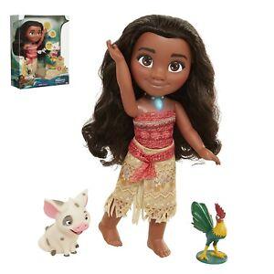 Disney Singing Moana and Friends Doll Set Light&Movie Song Kids Xmas Funny Toys