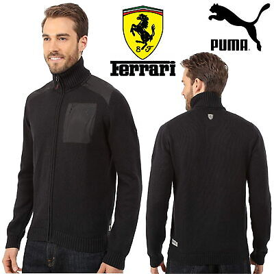 Puma Scuderia Ferrari Men's Jacket Moonless Night Full Zip Knitted Cardigan