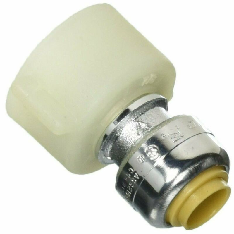 Cash Acme U3531LFA Push Fit Tube Adapter, 1/4 X 7/8 in, Ballcock, Psi, 200 De...