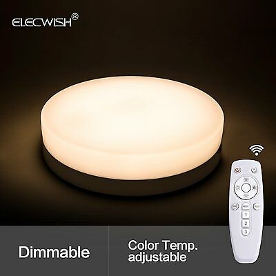 24 W Smart LED Ceiling Flush Mount Light Wireless Remote Control Lamp US