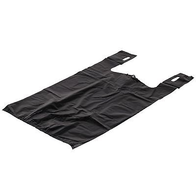 100 Ct. 1/6 T-Shirt Plastic Shopping Grocery Store Bags w/ Handles Large, Black