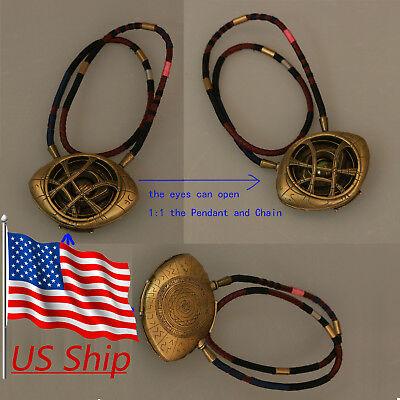 Cosplay Doctor Strange Pendant 1 1 Eye Of Agamotto Necklace Handmade Props New