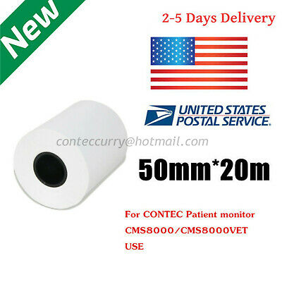 Us Stock Recording Paper 50mm20meter Thermal Printer Paper For Cms80008000vet