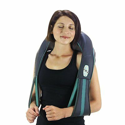 truMedic Rechargeable Shiatsu Neck Shoulder Body Massager w. Heat - Refurbished