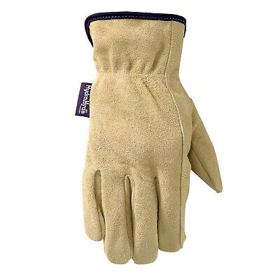 Womens Water-resistant Leather Work Gardening Gloves Medium Wells Lamont 1...