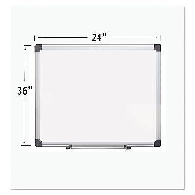 Mastervision Porcelain Value Dry Erase Board 24 X 36 White Aluminum Frame