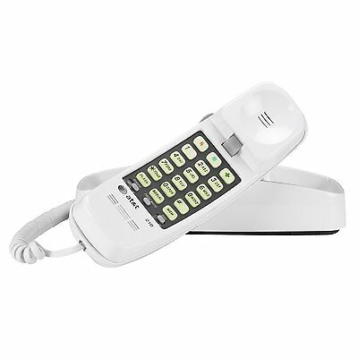 New AT&T White Push Button Corded Desk Wall Mount Home Phone Telephone