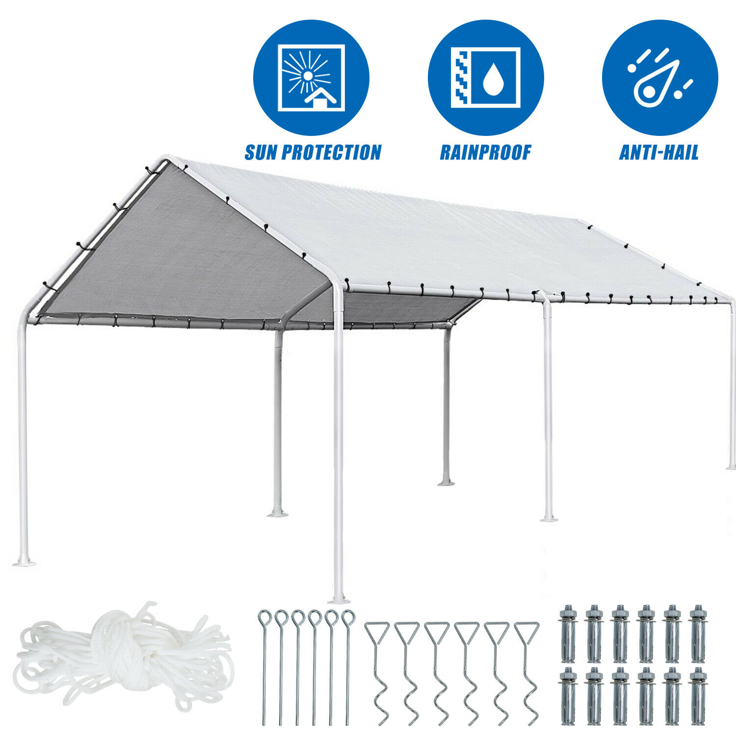 Carport Car port Party Tent Car Tent 10x20 Canopy Tent Heavy