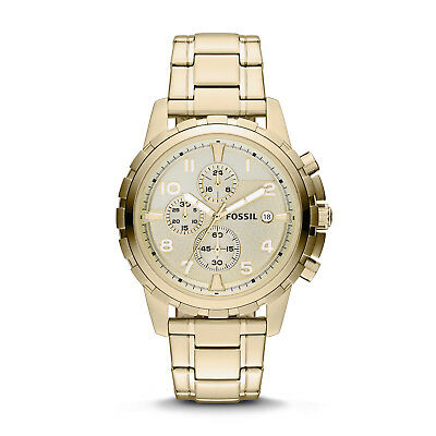 FOSSIL FS4867 Dean Chronograph Gold Tone Date Stainless Steel 45mm Mens Watch ()