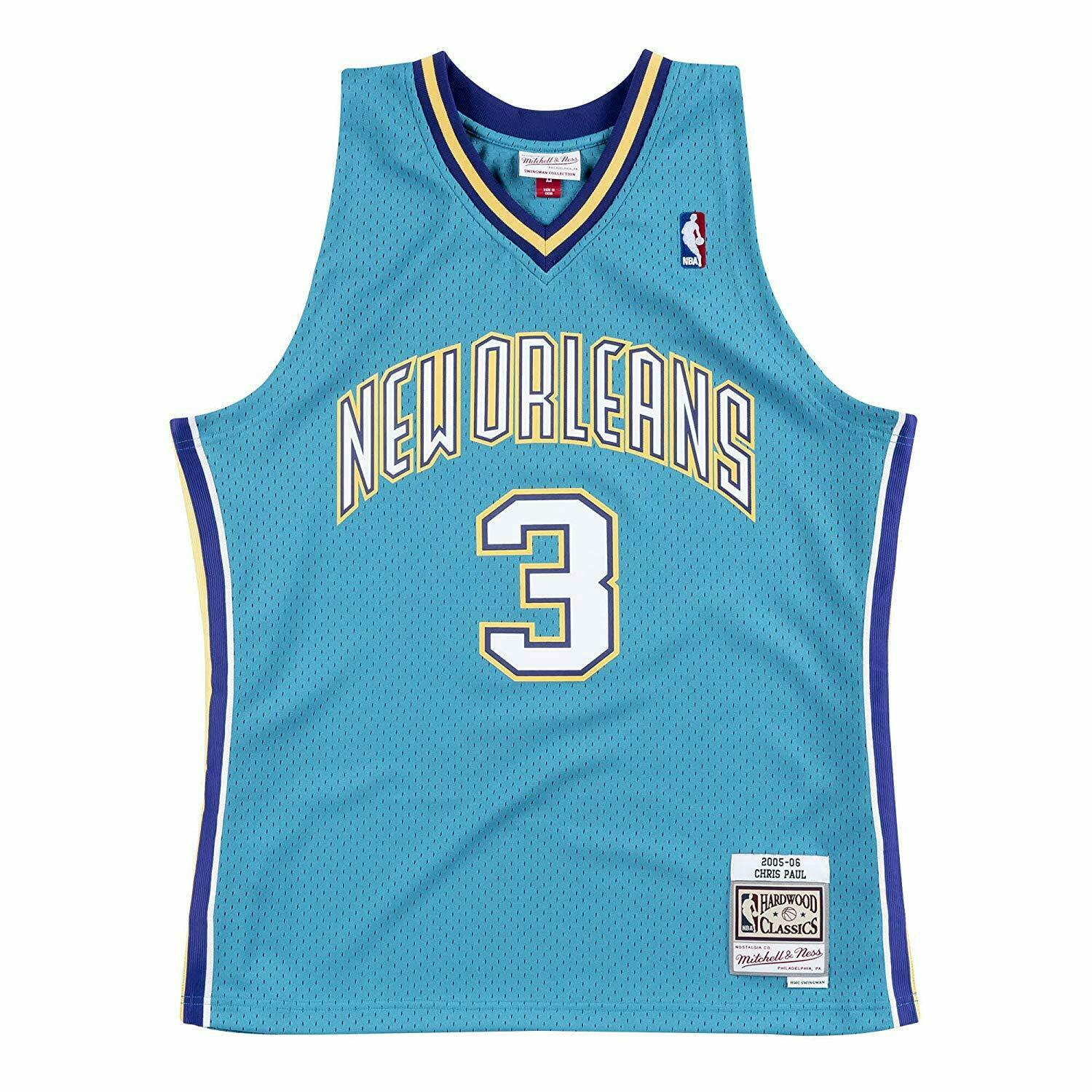 buy popular bd8cc d7604 Details about Chris Paul #3 Charlotte Hornets Mitchell & Ness Mesh NBA  Throwback Teal Jersey