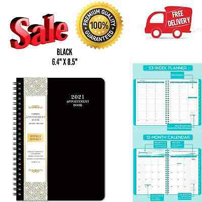 Agenda Planner Organizer 2021 Daily Weekly Monthly Schedule Appointment Book