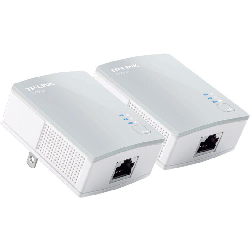 NEW TP-Link TL-PA4010 KIT AV600 Nano Powerline Ethernet Adapter Starter Kit