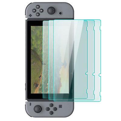 3x Display Schutz Glas für Nintendo Switch - Schutz Folie Schutzpanzer Glasfolie
