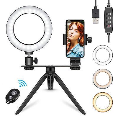 """Neewer Luce LED Anulare 6"""" 3 Modalità con Telecomando Treppiedi ecc. per Selfie"""