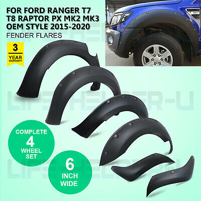 Wide Arch Kit - Fender Flares/Wheel Arch for Ford Ranger T7 T8 Raptor 2015-2020