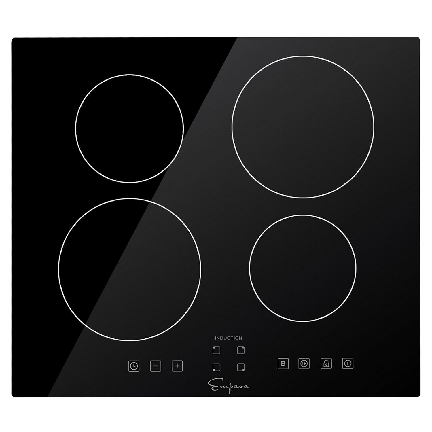 """Empava 24"""" Electric Stove Induction Cooktop with 4  Burner"""