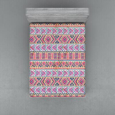 Native American Fitted Sheet Cover with All-Round Elastic Pocket in 4 Sizes All American Fitted Sheet