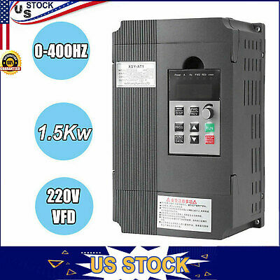 Ac 220v1.5kw Single Phase Variable Frequency Drive Vfd Inverter Converter