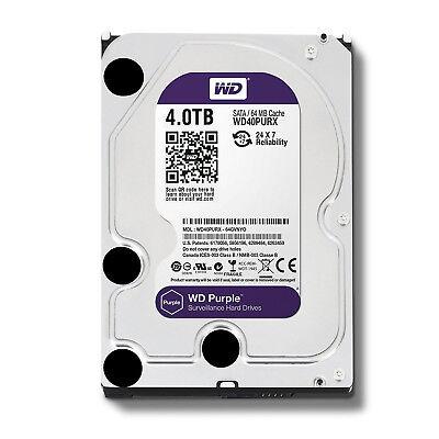 Western Digital WD Purple 4TB HDD SATA lll Surveillance Hard Disk Drive WD40PURX