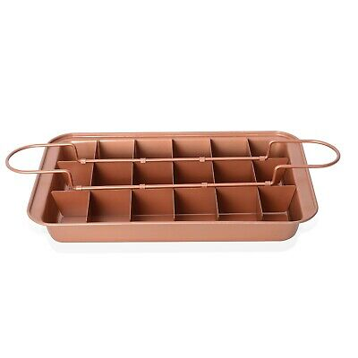 Home Kitchen Golden Perfect Brownie Pan Set 12.5x2x8