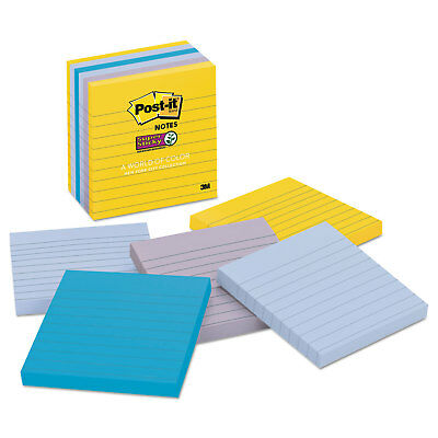 Post-it Notes Super Sticky Pads In New York Colors Notes 4 X 4 90-sheet 6pack