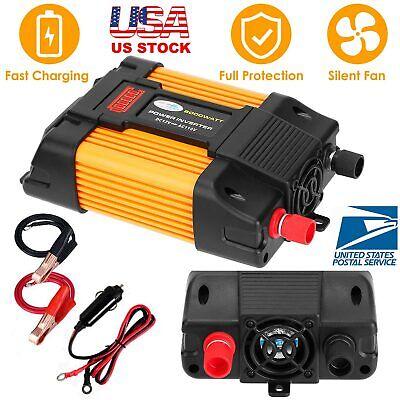6000W Peaks Power Inverter 12V DC TO 110V AC Car Power Solar Converter Sine Wave