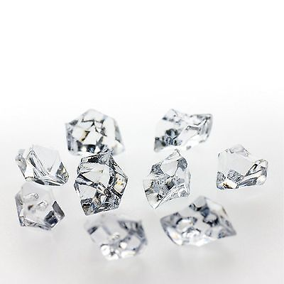 Clear Acrylic Ice Rocks Chips Fake Ice Vase Filler Table Scatter Centerpiece ()