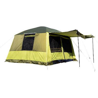 Outsunny Tenda da Campeggio con Veranda 8 Persone 410 × 310 × 225cm