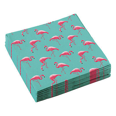 20 Flamingo Party Servietten 33 x 33 cm Amscan Tisch Deko Dekoration Motiv Flamingo Party Dekorationen