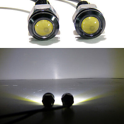 (2) White LED SMD Motorcycle & Car License Plate Screw Bolt Light lamp bulb 12V