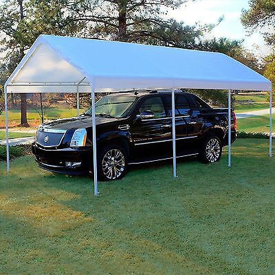 Replacement Canopy White 10 x 20 Carport Cover Frame Not Included |NO SALES TAX|