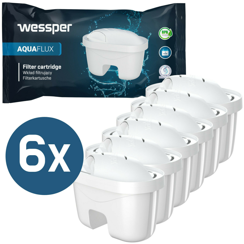 Cartucce filtranti Confezione 6 filtri per Acqua - Adatto Laica Bi-Flux caraffe