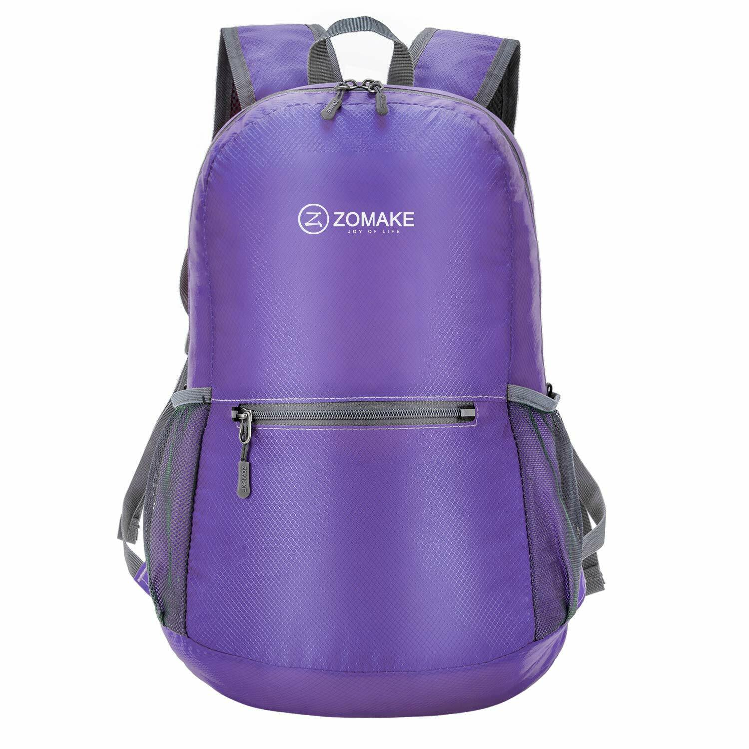 ZOMAKE Purple Ultra Lightweight Packable Backpack Water Resistant Hiking Daypack Camping & Hiking