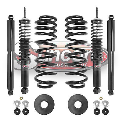 98-02 Lincoln Navigator 4WD 4 Wheel Air to Coil Springs & Shocks Conversion -