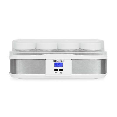 Klarstein Gaia yogurtera elaboración de yogur casero 12 tarros acero inoxidable