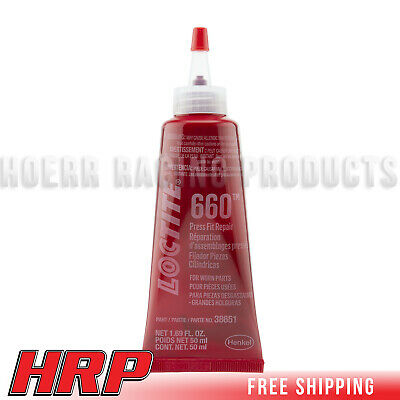 Loctite 555337 Quick Metal 660 Retaining Compound Press Fit Repair 50ml