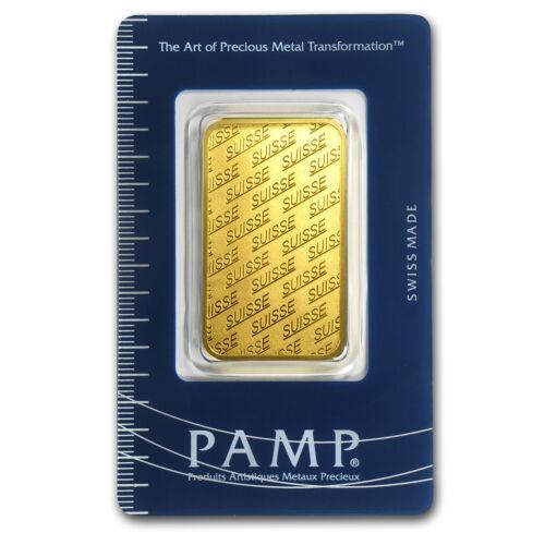 1 oz Pamp Suisse New Design Gold Bar .9999 Fine in Assay Card